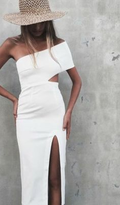 Keke White Bandage Dress