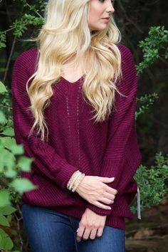 Fall into fall the right way in one of our comfy sweaters. Our Here I Go Again…