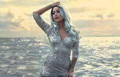 Outdoor beach photoshoot. Sparkle dress ✨#boudoir #photography #photoshoot #photographer #model  #water