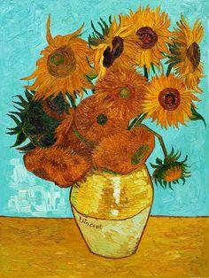 Vincent Van Gogh, Doze girassóis numa jarra. 1888