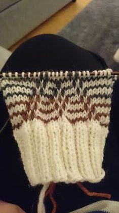 Pitkästä aikaa kerrosrivinousua! Ajattelin tekeväni jotakin erikoista ja monimutkaista, mutta into kokeilla uutta lahjaksi saamaani r... Knitted Mittens Pattern, Crochet Socks, Knit Mittens, Knitting Socks, Knitted Hats, Knitting Patterns, Accessories, Knitting And Crocheting, Easy Knitting Projects