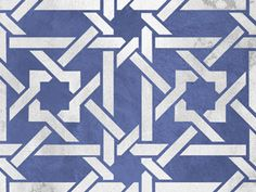And yet another blue Moroccan stencil