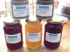 Homemade from Cafe Weymouth Weymouth Dorset, Pineapple Jam, Plum Jam, Strawberry Jam, Guinness, Candle Jars, Homemade, Wine, Dining