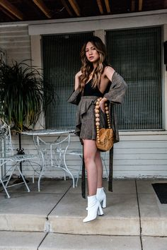 How To Style White Booties | https://jmalay.com/spring-came-early/