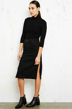 Won Hundred Fossil Denim Pencil Skirt at Urban Outfitters