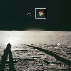 Captured by UFO Triangular Colored Camera in Mission Apollo 12 on the Moon (NASA PHOTO)