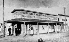 C.J. Schmidt's drugstore and saloon Sandy, Utah, 1883 Salt Lake Tribune archive