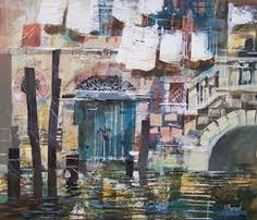 mike bernard paintings - Google Search Mike Bernard, Collage Art, Art Collages, Mixed Media Artists, Travel Pictures, Illustration Art, Buildings, Cityscapes, Bridges