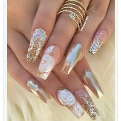 bridal coffin nails