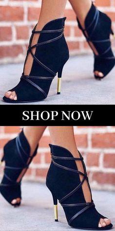 ad0b969f843 Nubuck Suede Open Toe Deep V Cut High Heels. High Heel Shoes  The Essential  Woman s Fashion Accessory