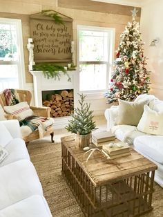 A farmhouse christmas tour farmhouse christmas decor, rustic christmas, . Decoration Ikea, Xmas Decorations, Farmhouse Christmas Decor, Rustic Christmas, Christmas Mantels, Christmas Themes, Christmas Holidays, Christmas Parties, Chandeliers