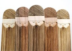 I really like the wood look with the beard idea. The subtle range of colors do a good job of tying the set together