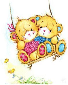 Illustration of teddy bear soft toys - 25 HQ Jpg Bear Clipart, Cute Clipart, Tatty Teddy, Bear Illustration, Watercolor Illustration, Art D'ours, Teddy Bear Pictures, Cute Teddy Bears, Gif Animé