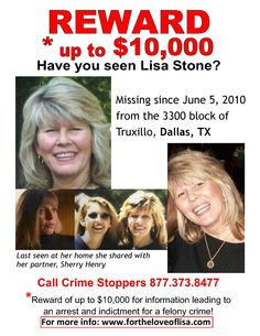 Still looking for Lisa Stone...help spread the word!!