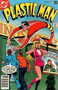 Plastic Man #20, Noviembre 1977. Portada de Ramona Fradon y Bob Smith