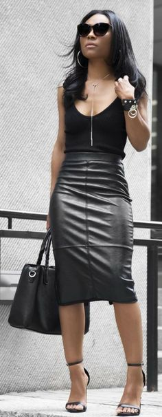 Top @hm , Skirt @helmutlang // Fashion Look by layllahstyle