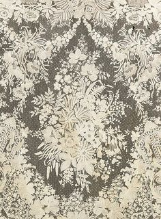 detail of Brussels needle lace motif...from shawl...late 19th century