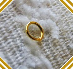 Jewelry Making Supplies Thickness 1.2mm 8mm 50 Gold Plated Open Jump Rings Jump Rings