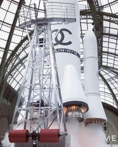 Never a dull moment at @ChanelOfficial. Watch #KarlLagerfeld's #Chanel rocket launch in @le_grand_palais. Video by @caroline_grosso. #PFW  via W MAGAZINE OFFICIAL INSTAGRAM - Celebrity  Fashion  Haute Couture  Advertising  Culture  Beauty  Editorial Photography  Magazine Covers  Supermodels  Runway Models