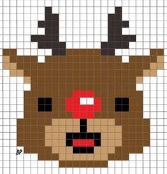 X-mas pixel art Cross Stitch Cards, Cross Stitching, Cross Stitch Embroidery, Pixel Crochet, Crochet Cross, Hama Beads Patterns, Loom Patterns, Plastic Canvas Crafts, Plastic Canvas Patterns