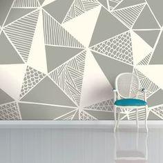 Grey Truss Wallpaper by Sian Elin