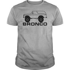 1978-1979 Ford Bronco Side, With Tires, Black Print. Automotive t-shirts funny clever quotes sayings hoodies tees gifts