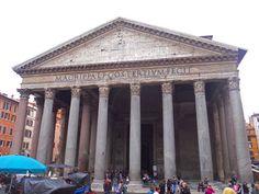 Panteón de Agripa en #Roma, antiguo templo romano reconvertido en iglesia católica.