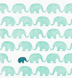 teal + mint  Note from CLE: ♥ love the colours and the cute print pattern - might be fun to think about patterns for table cloths.