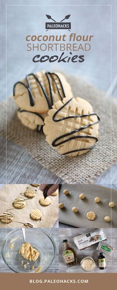Coconut flour shortbread cookies contain only 5 ingredients, and take only 15 minutes from start to finish. For the full recipe visit us at: http://paleo.co/sbcookies