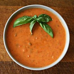 Sweet Tomato Basil Bisque. This soup is awesome. I added fresh thyme and used fresh, roasted tomatoes instead of canned. Next time I probably won't use oregano - or just use less.
