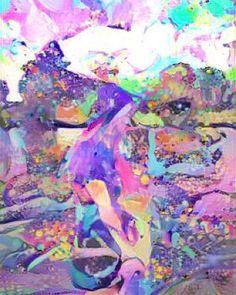 Candy land -#instagram #art #digitalart #digitalpainting #paint #painting #fantasy #fantasyart #wonderland #wonder #aliceinwonderland #artists #dream #deepdream #purplehair #pinkhair #candyland #candy #sweet #love #sky #girl #Bo #imagine #waiting #colors # by sivabo7