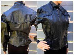 Excited to share this item from my #etsy shop: M 80s Sexy Leather Moto Jacket by Leather Wear Pakistan Peplum Waist Biker Chick Glam Rock Rocker Chic Urban Euro Bad Bitch French Style