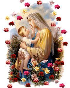 IMÁGENES DE LA VIRGEN MARÍA CON EL NIÑO JESÚS