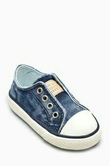 Buy Denim Laceless Trainers (Younger) from the Next UK online shop