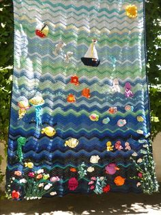 Sea World crochet blanket. A gift for Marko for the sixth birthday.
