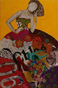 Carmen Casanova, España Artist Painting, Figure Painting, Korean Art, Painting, Collage Artists, Collage Art, Art Pictures, Paper Art, Mixed Media Art Journaling