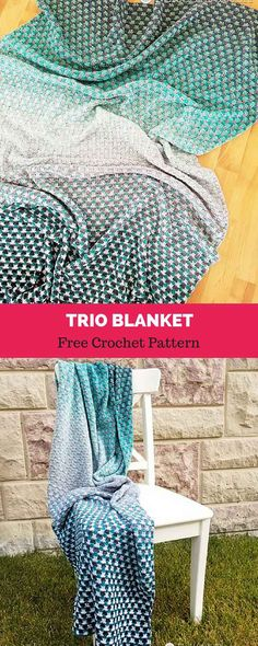 The Trio Blanket is aptly named because it s worked with three complete  cakes of Scheepjes Whirl. Sit back and enjoy working this simple and  rhythmic 148409b6f4