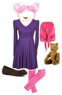 """""""Annie - The Dark Child"""" by luxanna-and-nami ❤ liked on Polyvore featuring Topshop, Seychelles, Bakker made with love, lol, annie, league of legends and tibberz"""