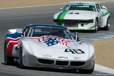 Lance Smith in a 1974 Chevrolet Corvette.