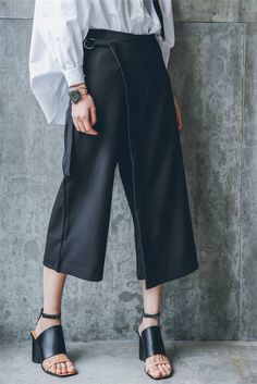 Oversized Wrap Skirt Pants