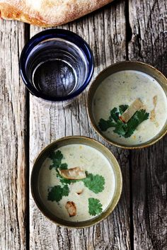 Roasted Poblano and Corn Soup | Milk and Honey
