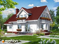 Dom w rododendronach 6 Home Fashion, House Plans, House Design, Cabin, Mansions, Architecture, House Styles, Outdoor Decor, Houses