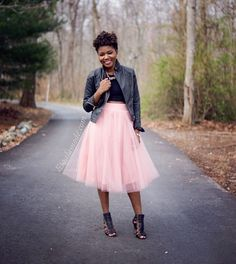 Pink Tulle Midi Skirt Outfit + Link Up - Lisa a la mode