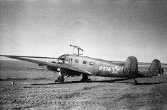 """STALIN ROUTE"" - secret trail . ""Siebel"" Si-204D trophy German light transport aircraft, with the inscription ""AVIAARKTIKA"" on the Board. Yakutsk Aerodrome. Siberia ..."