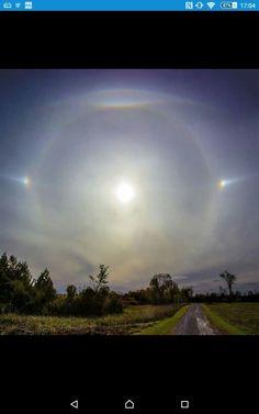 Solar halo display above Ottawa Canada