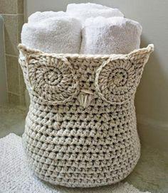 Fürdőszobai kéztörlők, de egyéb más dolgok tárolására is szemrevaló ez a 'bagoly'. Horgolni tudóknak nem okoz fejtörést az elkészítése: Röv...