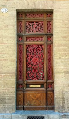 Tall door in Toulouse, Haute-Garonne, France