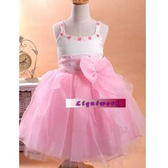 For jerzie Pink Formal Toddler Little Flower Girls Pageant Holiday Party Dresses SKU-10501002