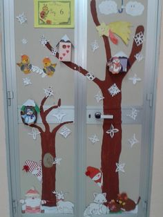 1000 images about lavoretti per l 39 inverno on pinterest for Porte decorate scuola