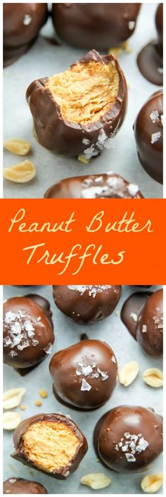 Made with creamy peanut butter, semi-sweet chocolate, flaky sea salt, and not much else! These may just be the tastiest truffles in the universe.